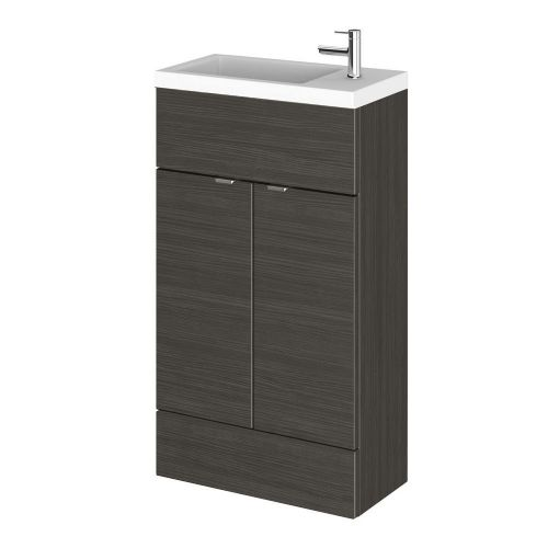 Elite Hacienda Black 500mm Compact Vanity Unit & Basin